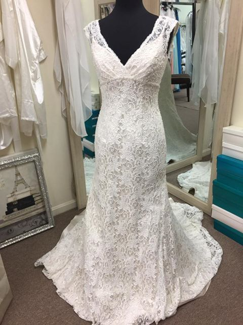 Fitted All Over Lace Wedding Gown