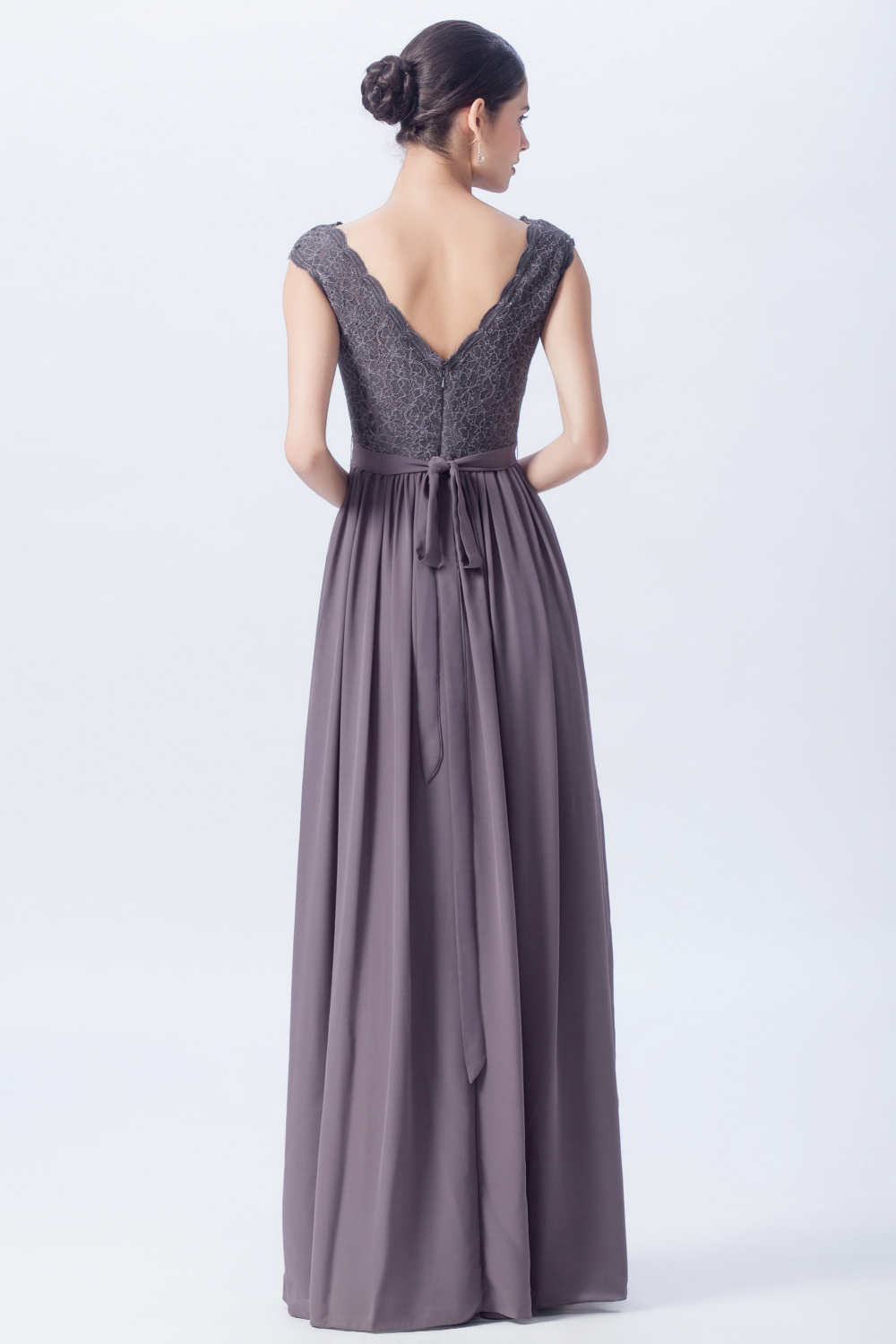 Off The Shoulder, Open Back Lace Bridesmaid Gowns – Champagne Taste ...