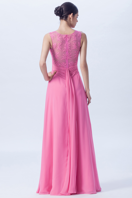 Lace Bodice Bridesmaid Dress – Champagne Taste Bridal
