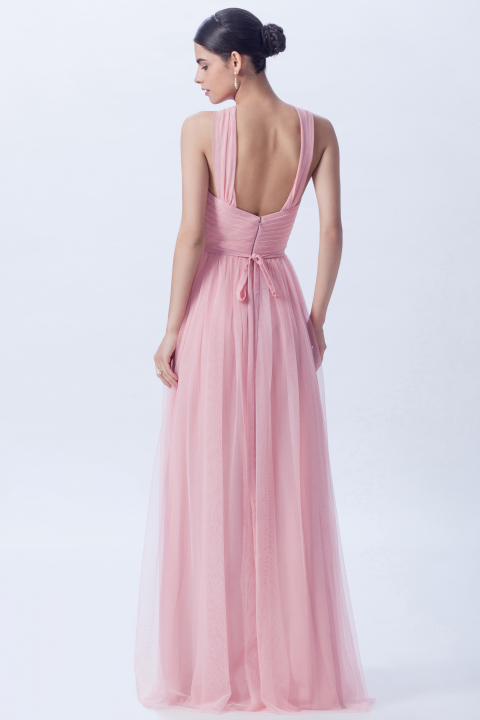 Halter, Open Back Bridesmaid Gowns – Champagne Taste Bridal